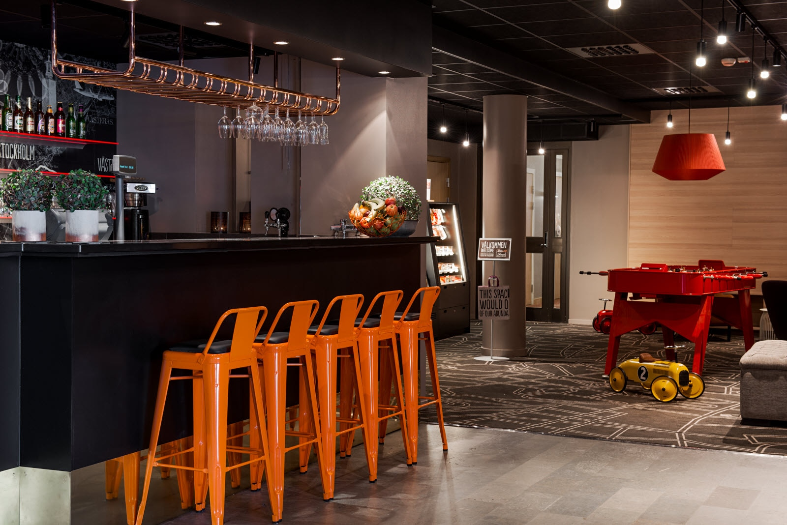 Scandic Sodertalje, lobby, bar