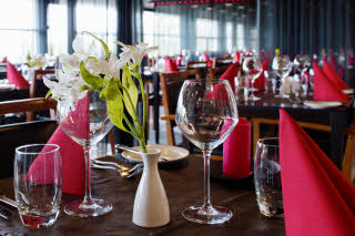 Scandic Aalborg, a la carte restaurant, daytime, close up