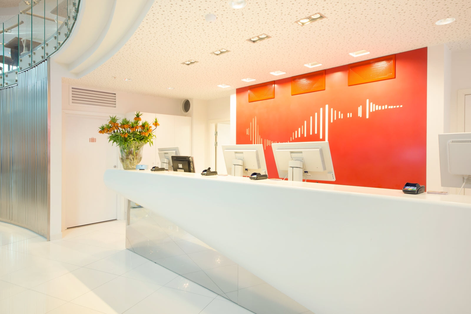 Scandic Ornen, front desk, reception, lobby