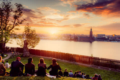 Summer evening in Stockholm