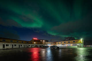 Facade and Northern lights