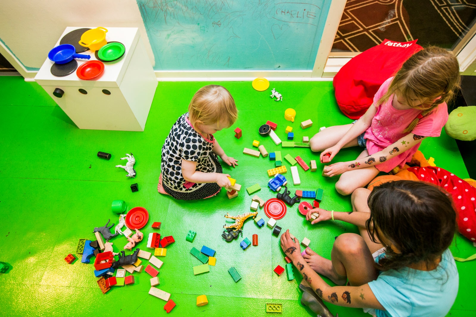 Kids in playroom