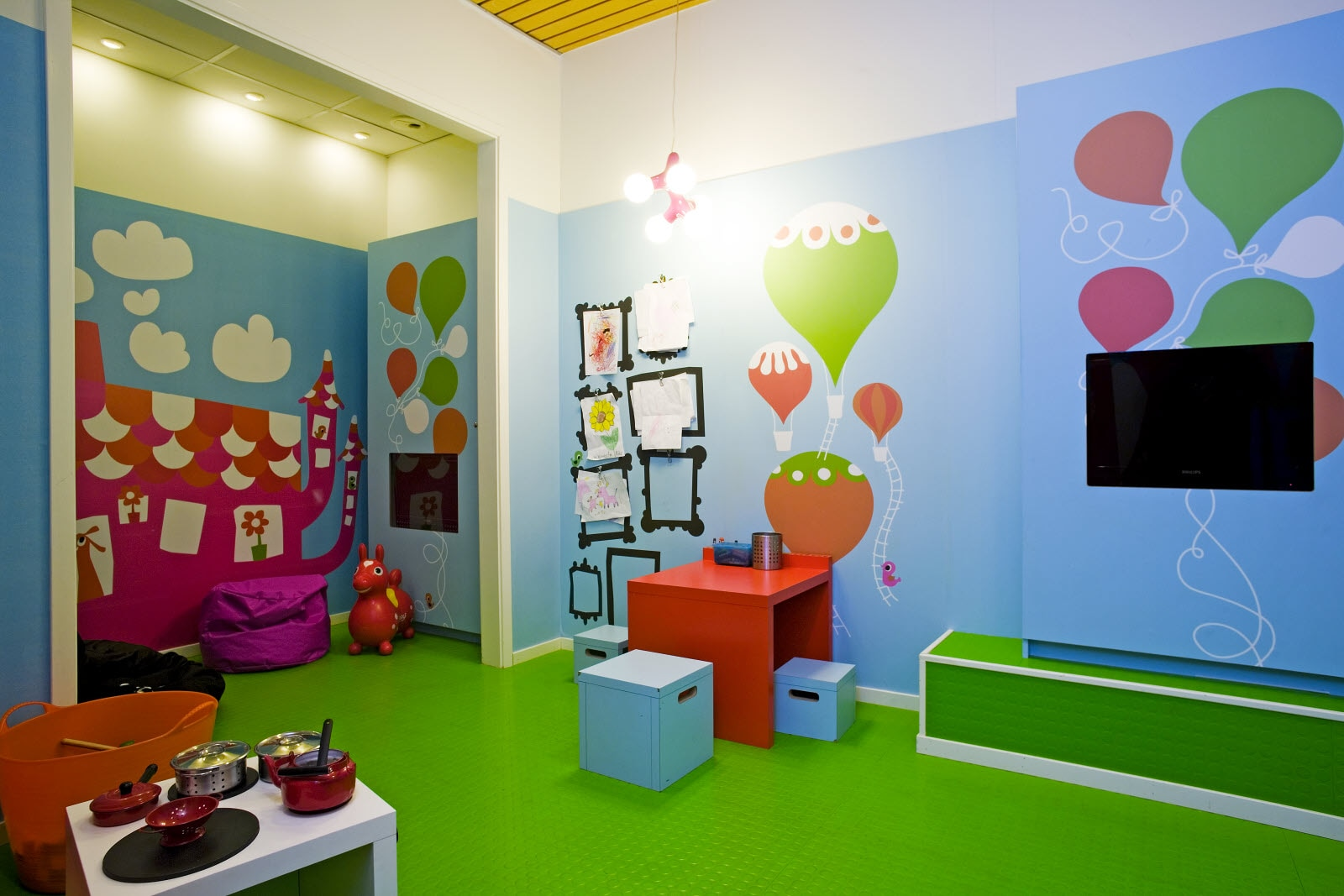 Scandic Infra City, play room, kids area