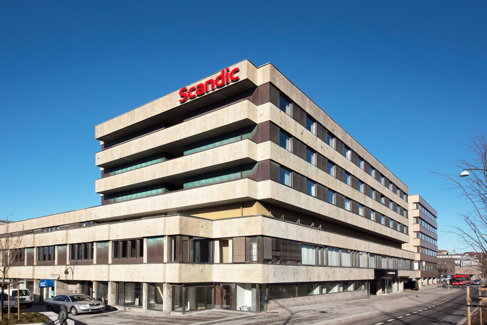 Hotellfasade, Scandic City